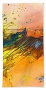 The Little Boy And The Golden Thread Beach Towel