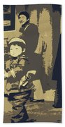 The Little Chinese Soldier Beach Towel