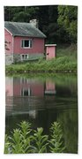 The Little Pink Cabin With Ripples Beach Towel