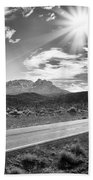 The Lonely Road Beach Towel by Howard Salmon