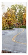 The Long And Winding Road Beach Towel