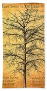 The Lord Jesus Is The Tree Of Life Beach Towel