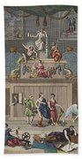 The Lottery, Illustration From Hogarth Beach Towel