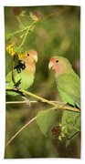 The Lovebirds  Beach Towel