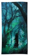 The Lovers Cottage By Night Beach Towel