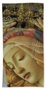 The Madonna Of The Magnificat Beach Towel by Sandro Botticelli