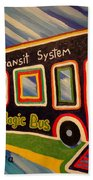 The Magic Bus Beach Towel