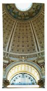 The Main Reading Room Library Of Congress Beach Towel