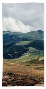 The Manitou And Pikes Peak Railway Cog Descends Beach Towel