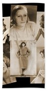 The Many Faces Of Greta Garbo Beach Towel