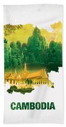 The Map Of Cambodia 2 Beach Towel