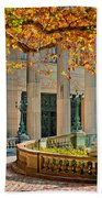 The Marble House In Autumn Beach Towel