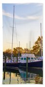 The Marina At St Michael's Maryland Beach Towel by Bill Cannon