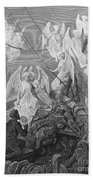 The Mariner Sees The Band Of Angelic Spirits Beach Towel by Gustave Dore