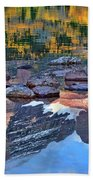 The Maroon Bells Reflected Beach Towel