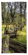 The Meadow Fence Beach Towel