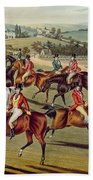 'the Meet' Plate I From 'fox Hunting' Beach Towel