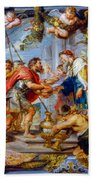 The Meeting Of Abraham And Melchizedek Beach Towel