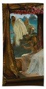 The Meeting Of Antony And Cleopatra  41 Bc Beach Towel