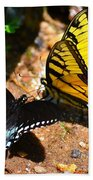 The Meeting Of The Butterflies Beach Towel
