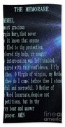 The Memorare Beach Towel by Barbara Griffin