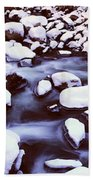 The Merced River In Winter, Yosemite Beach Towel