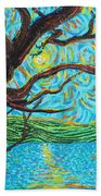 The Mermaid Tree Beach Towel
