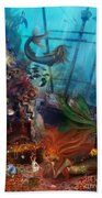 The Mermaids Treasure Beach Towel