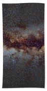 The Milky Way From Scorpio Antares And Sagitarius To North America Nebula In Cygnus Beach Towel
