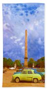 The Monument's Parking Lot Digital Art By Cathy Anderson Beach Towel