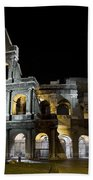 The Moon Above The Colosseum No1 Beach Towel