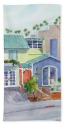 The Most Colorful Home In Belmont Shore Beach Towel