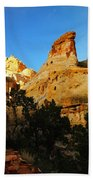 The Mountains Of Capital Reef   Beach Towel
