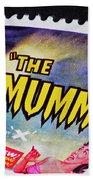 The Mummy Postage Stamp Print Beach Towel