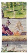 The Murder Of A Frenchman Beach Sheet
