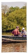 The Music Never Ends - Central Park Pond - Nyc Beach Towel