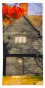 The Mysterious Witch House Of Salem Beach Towel
