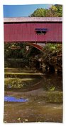 The Narrows Covered Bridge 1 Beach Towel