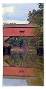 The Narrows Covered Bridge 4 Beach Towel
