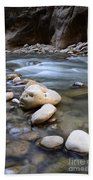 The Narrows One Step At A Time Beach Towel