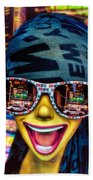The New York City Tourist Beach Towel by Chris Lord