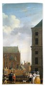 The Nieuwe Kerk And The Rear Of The Town Hall In Amsterdam  Beach Sheet