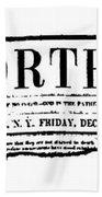 The North Star, 1847 Beach Towel