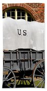 The Old Army Wagon Beach Towel