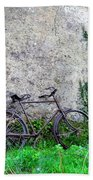 The Old Bike In The Irish Countryside Beach Towel