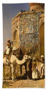 The Old Blue Tiled Mosque - India Beach Towel