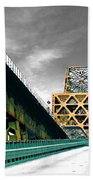 The Old Bridge Hwy 190 Mississippi River Bridge Baton Rouge Beach Towel