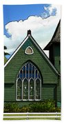The Old Church In Hanalei Beach Towel