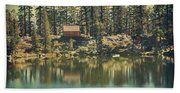 The Old Days By The Lake Beach Towel