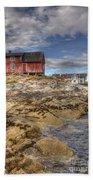 The Old Fisherman's Hut Beach Towel by Heiko Koehrer-Wagner
